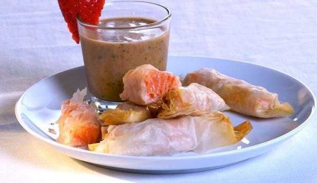 Ricetta pasta fillo zucchine salmone