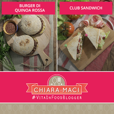 Burger di quinoa & Club sandwich