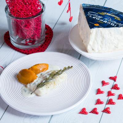 Filetto di merluzzo con zucca&crema di gorgonzola.