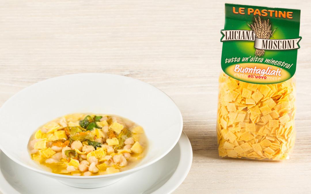 Zuppetta primaverile con Buontagliati e fagioli di Controne.