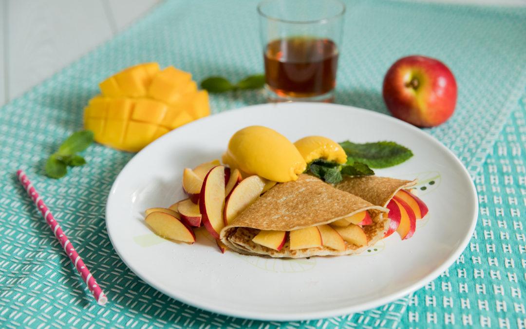 Mango + pesche? Crepes!